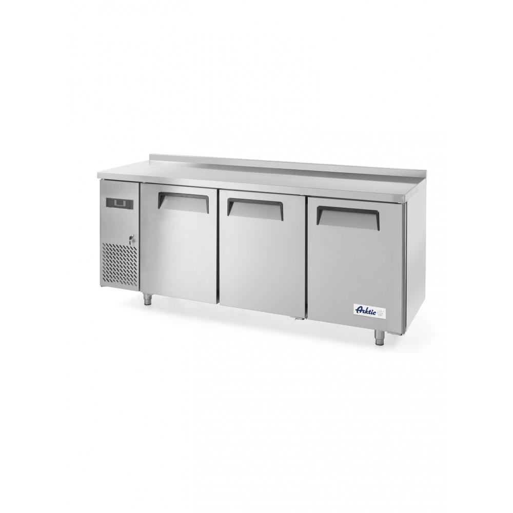 Vrieswerkbank met 3 deuren Kitchen Line 390L - RVS - H 85 X 60 X 180 CM - Hendi - 233399