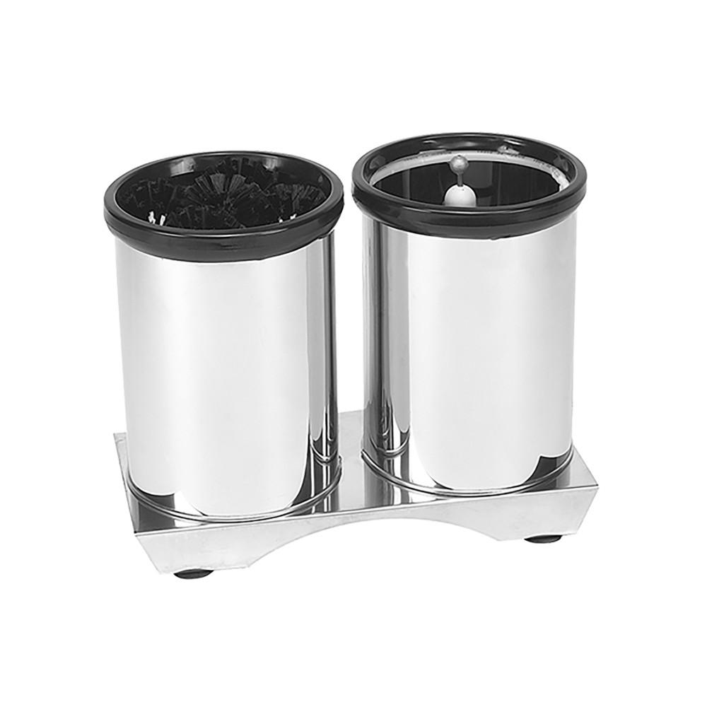 Glazen-Spoelborstel - H 29 x 38 x 18 CM - 1 KG - RVS - 824004