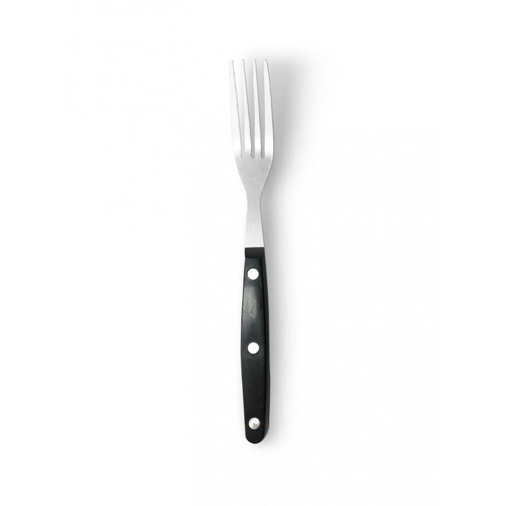 Steakvork - 22 CM - Zwart Heft - Promoline