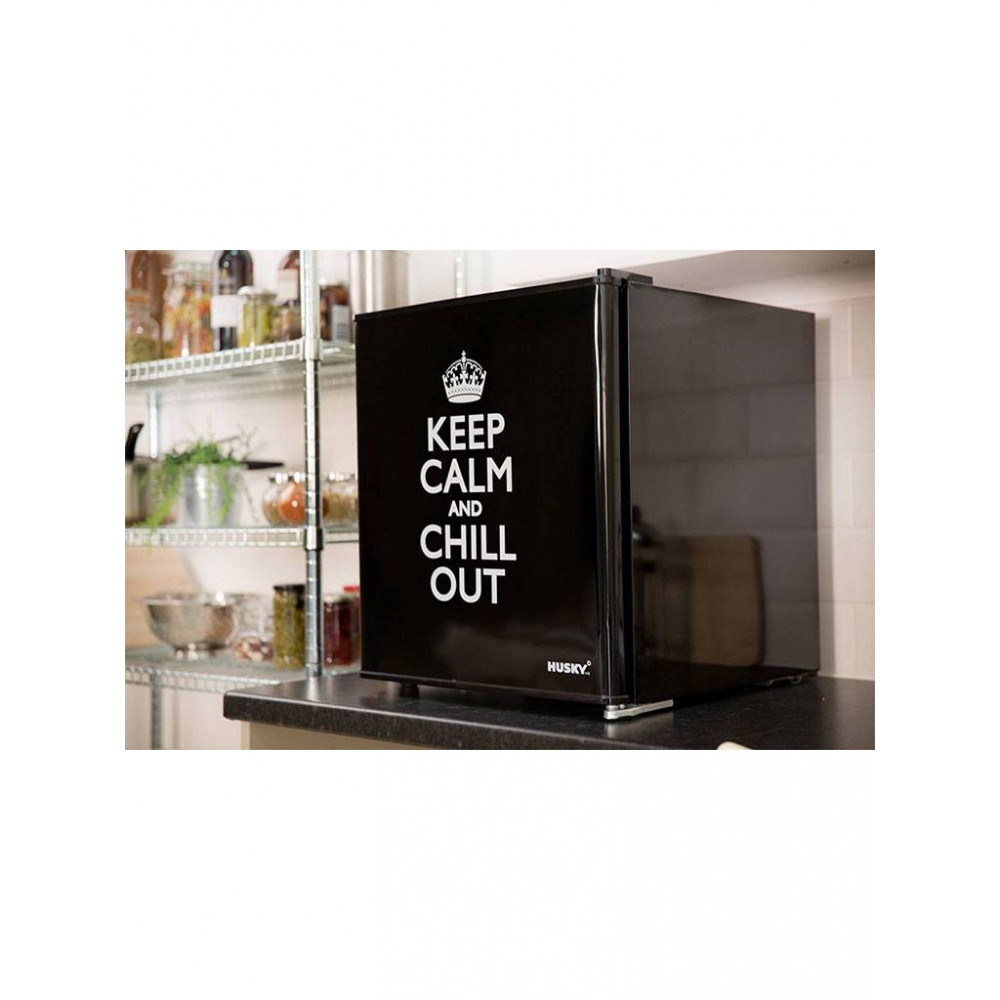 Koelkast mini - Husky - KK50-KEEPCALM - Keep Calm - 46 liter - zwart