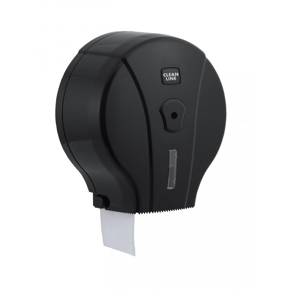Toiletpapier Dispenser - Maxi Jumbo - Zwart - Promoline - Cleanline