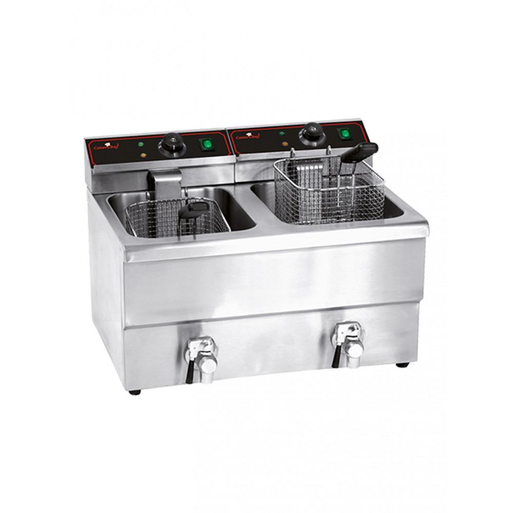 Friteuse - H 40.5 x 57.6 x 46.9 CM - 17.5 KG - 220 - 240 V - 3250 W - RVS - 8 Liter - Elektrisch - Caterchef