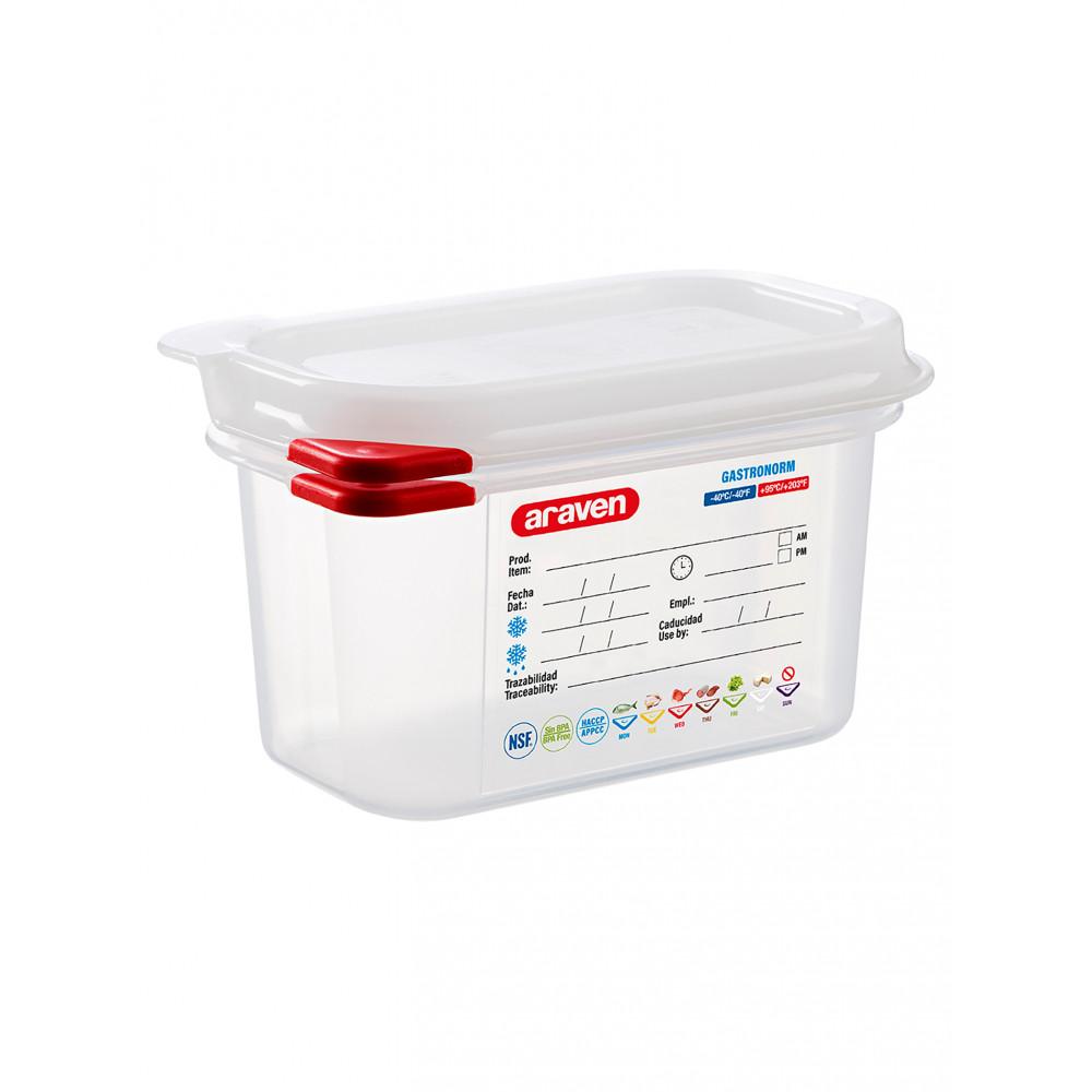 Voedseldoos - 1/9 GN - 100 mm diep - Polypropyleen - Promoline