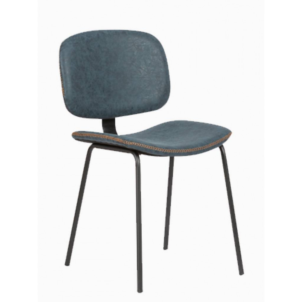 Horeca stoel - Louis - Blauw - Staal