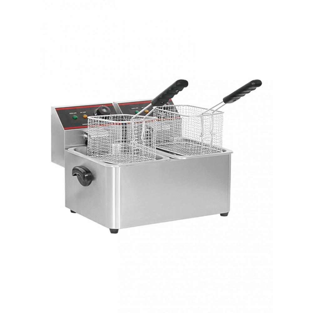 Friteuse - H 31.8 x 43.7 x 37.7 CM - 10 KG - 220 - 240 V - 2000 W - RVS - 5 Liter - Elektrisch - Caterchef
