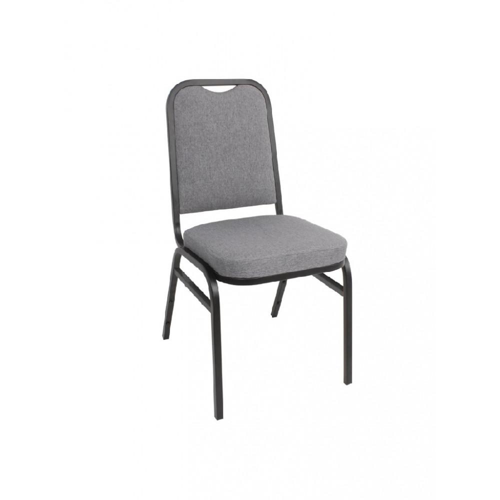 Stalen banketstoel met vierkante rugleuning grijs - 4 stuks - DA602 - Bolero