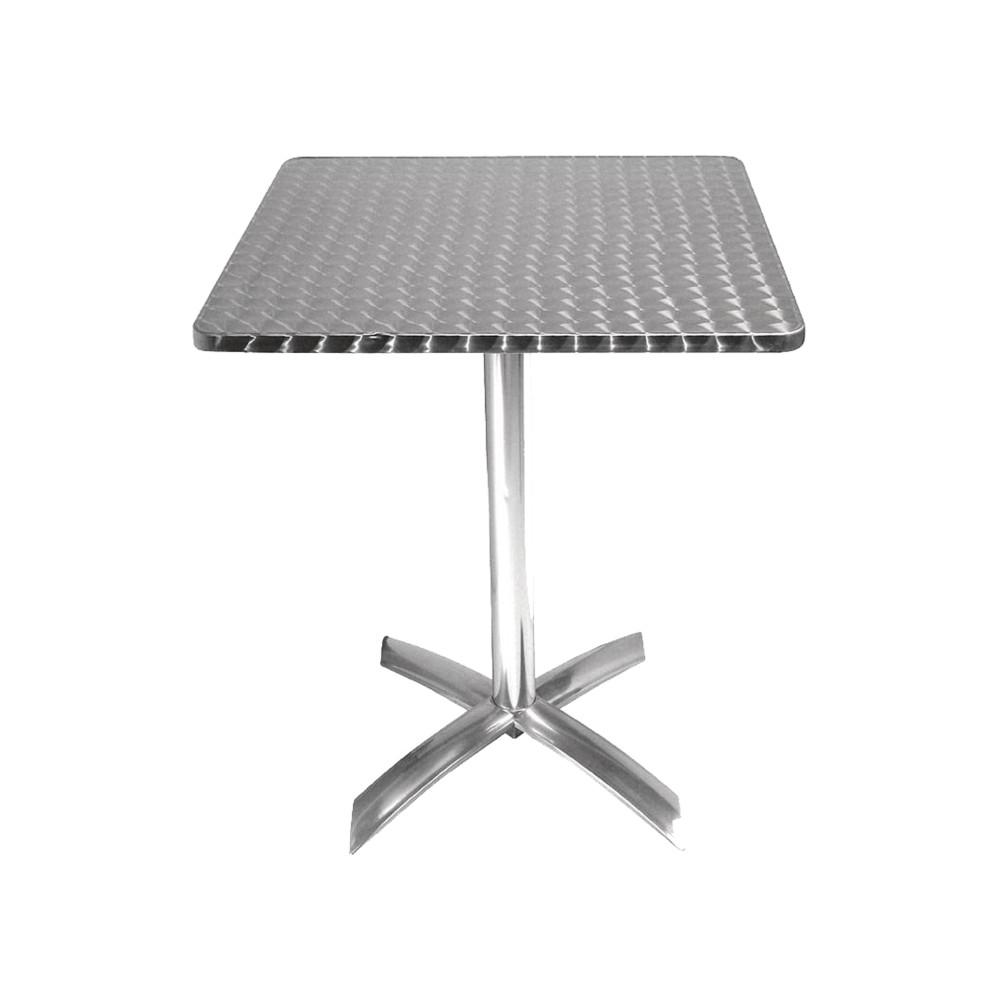 Bolero rvs bistrotafel vierkant kantelbaar 60 cm| Horeca tafel