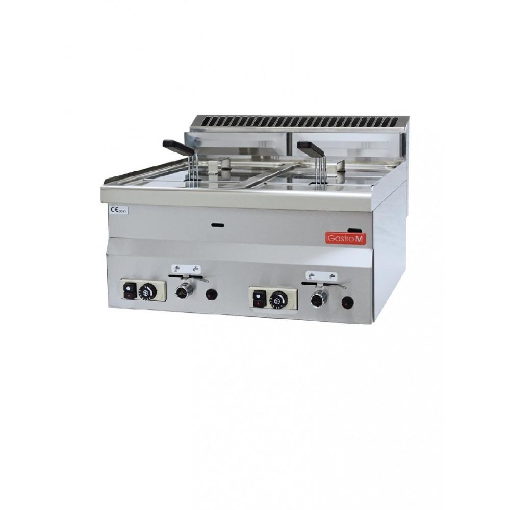 600 gas friteuse 2x 8ltr 60/60 FRG - GL907 - Gastro M