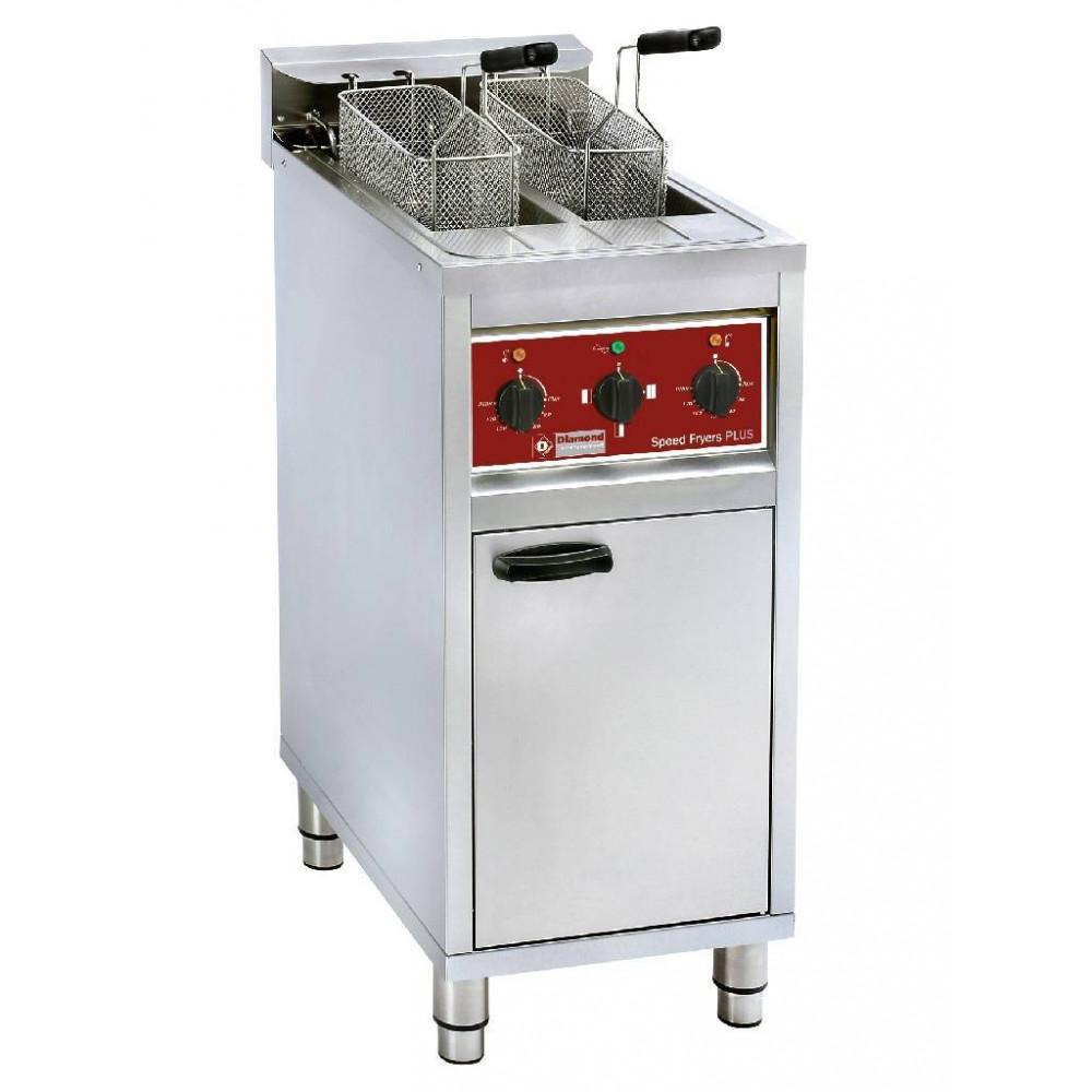 Elektrische friteuse - 2x 10 liter - Op kast - FSM-2V6E/N - Diamond
