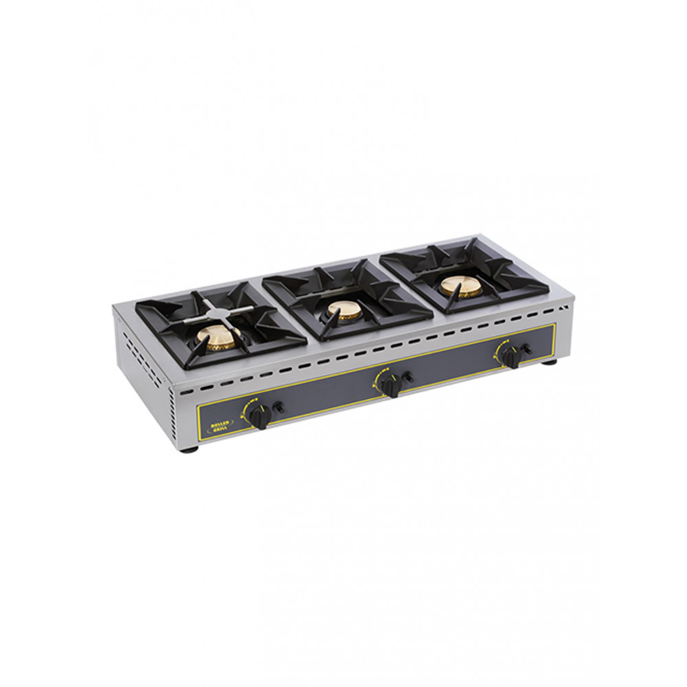 Kooktoestel - H 19.5 x 100.5 x 51 CM - 32 KG - Propaangas - 19 CM - RVS - Gas - Roller Grill - 304152