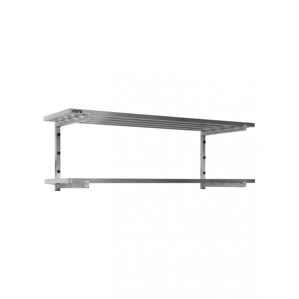 Wandschap - 2 Planken - Spijlenrooster - 120 x 40 cm - Saro - 700-4630
