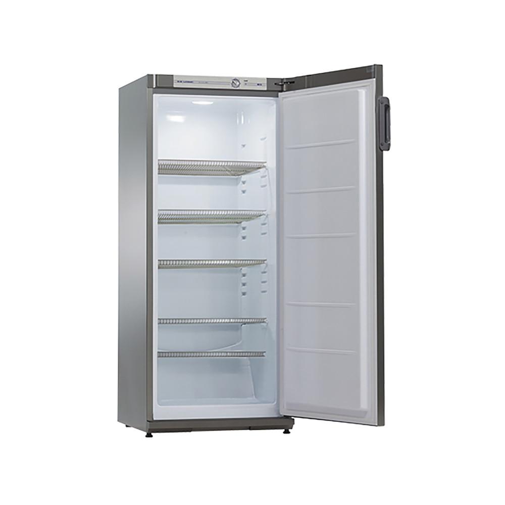 Koeler - H 145 x 60 x 62 CM - 52 KG - 220 - 240 V - 120 W - Statische - R600A - Grijs - 267 Liter - +0°C / +10°C - Exquisit - 905401