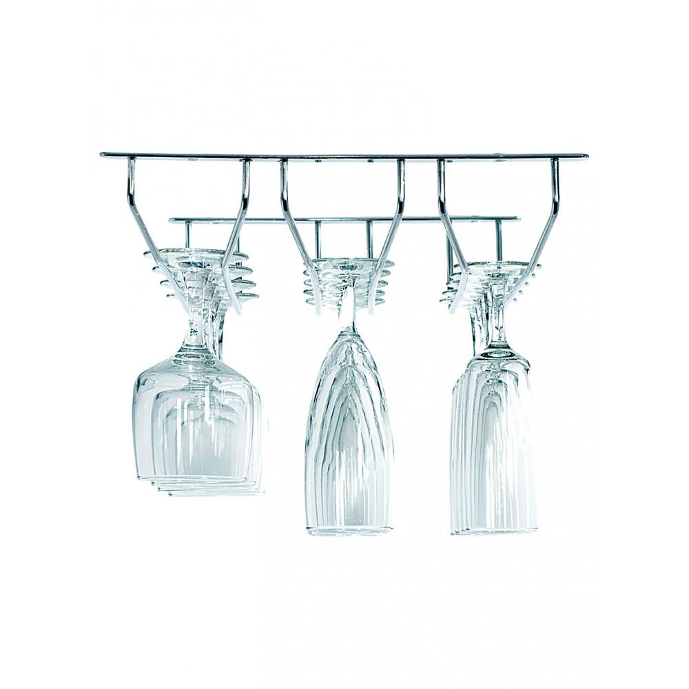 Glasophangrek - 3 rijen - Chroom - Promoline