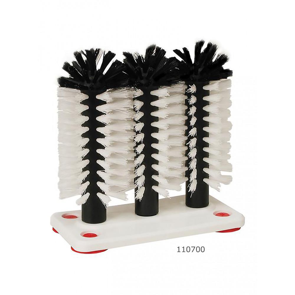 Spoelborstel - 3-delig - 10 Stuks - Kunststof voet - 110700