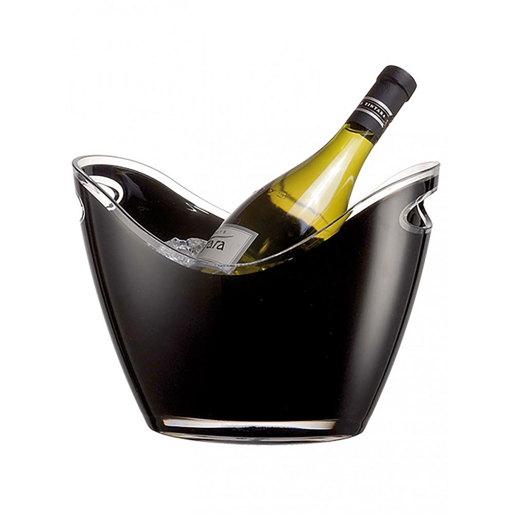 Wijnkoeler - H 20.5 x 26.5 x 20.5 CM - 0.74 KG - Polystyreen (Ps) - Zwart - 3 Liter - Vin Bouquet - 130155