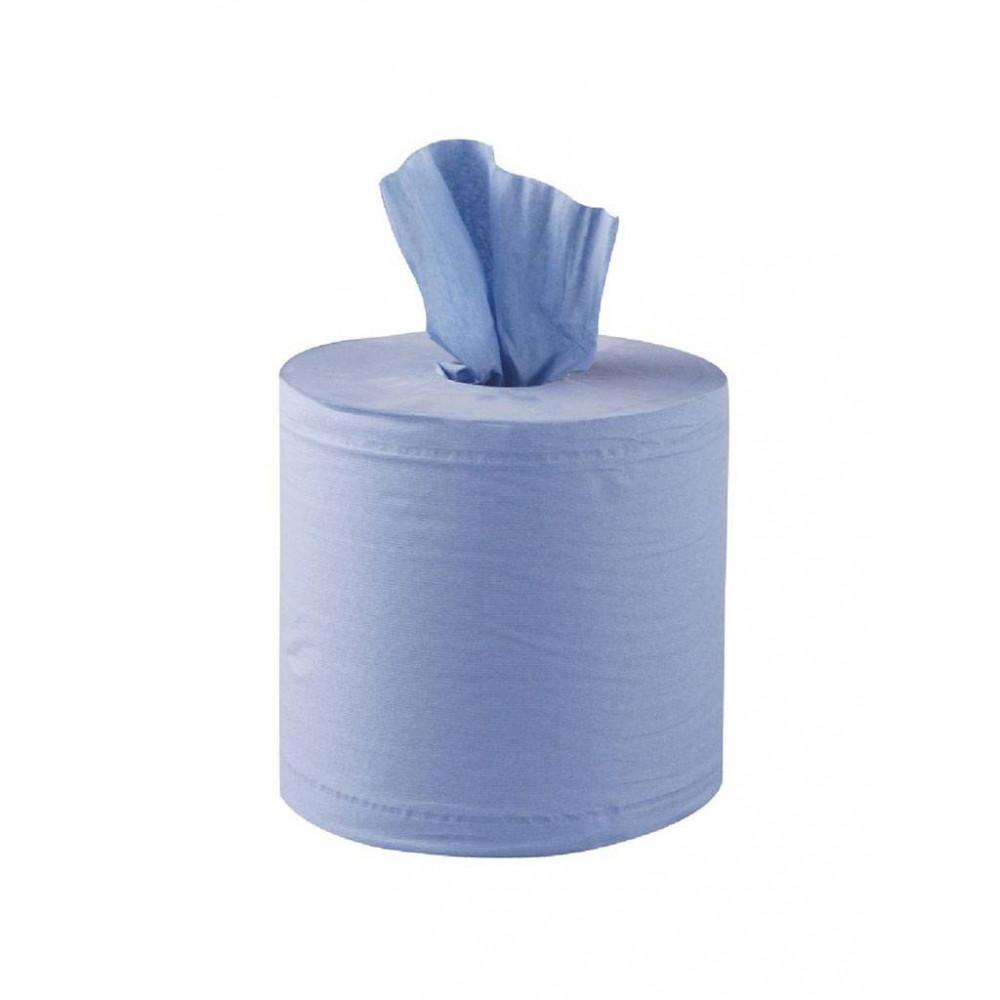 Centrefeed handdoekrollen - 2 laags - blauw - 6 stuks | Jantex