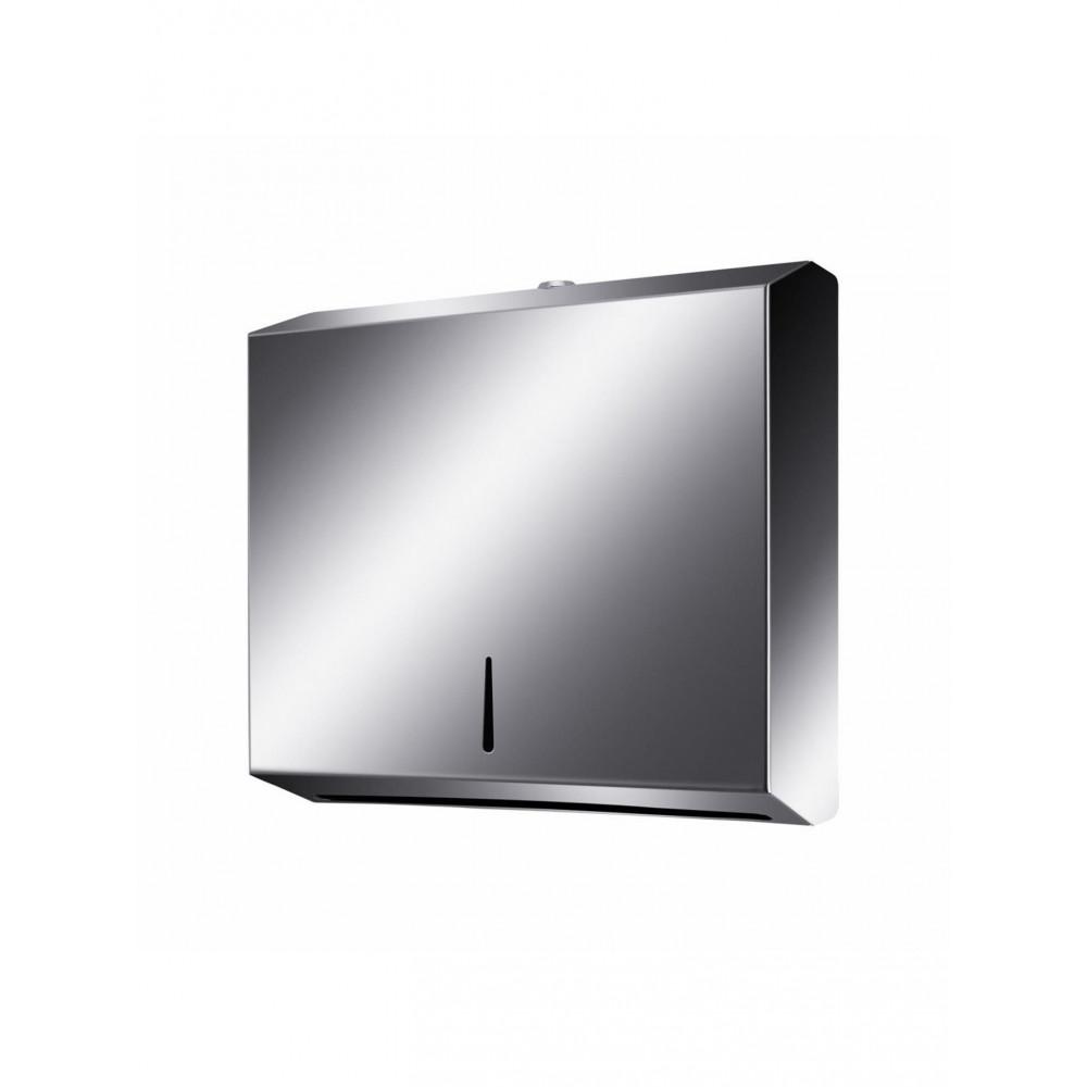 Hand papierdispenser - 26.4 x 70 cm - RVS - Promoline