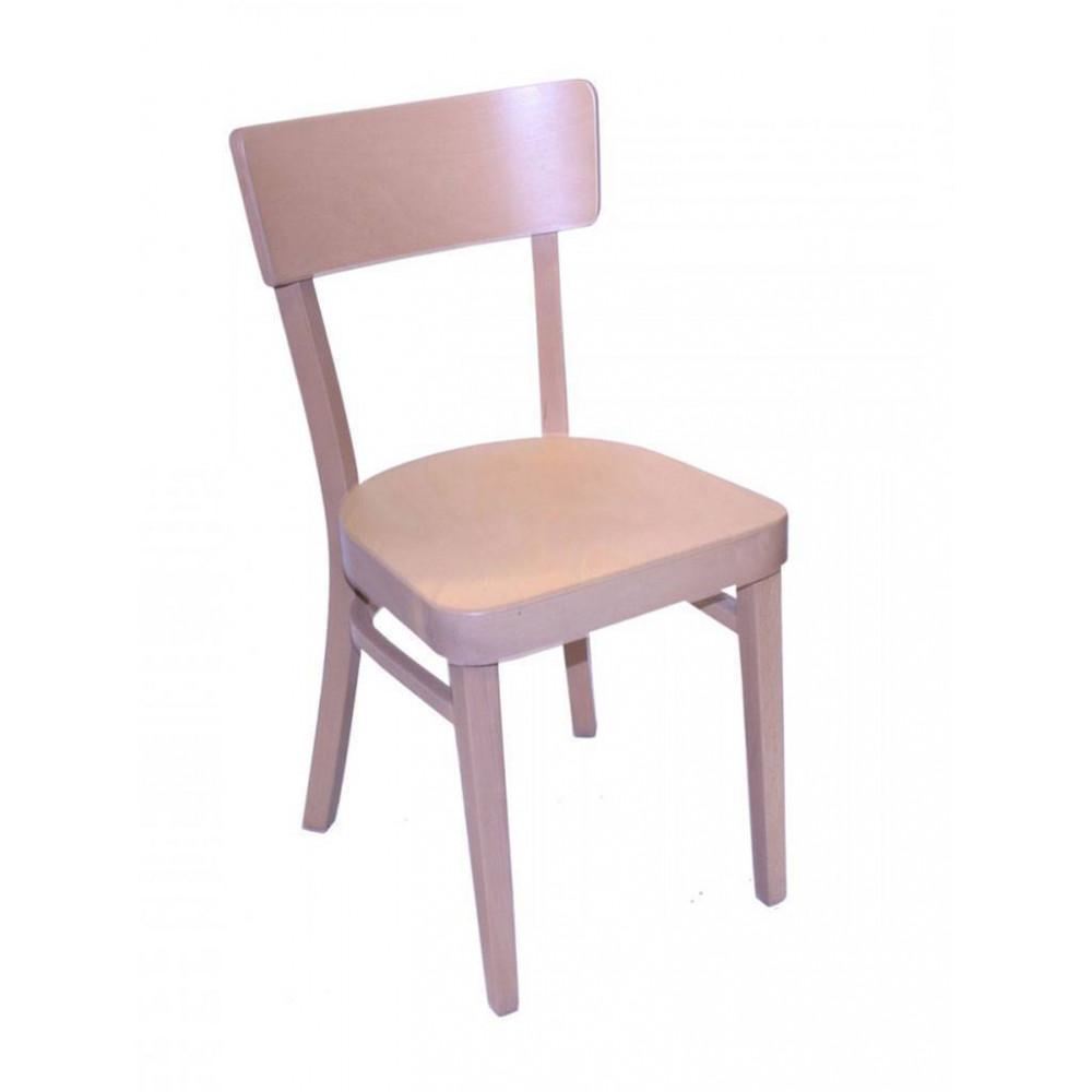 Horeca stoel - Brussel - Blank - Hout