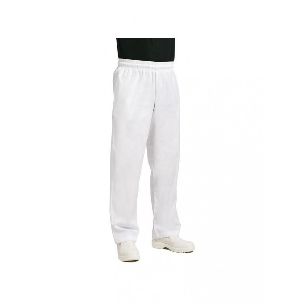 Easyfit unisex koksbroek - Wit - Chef Works