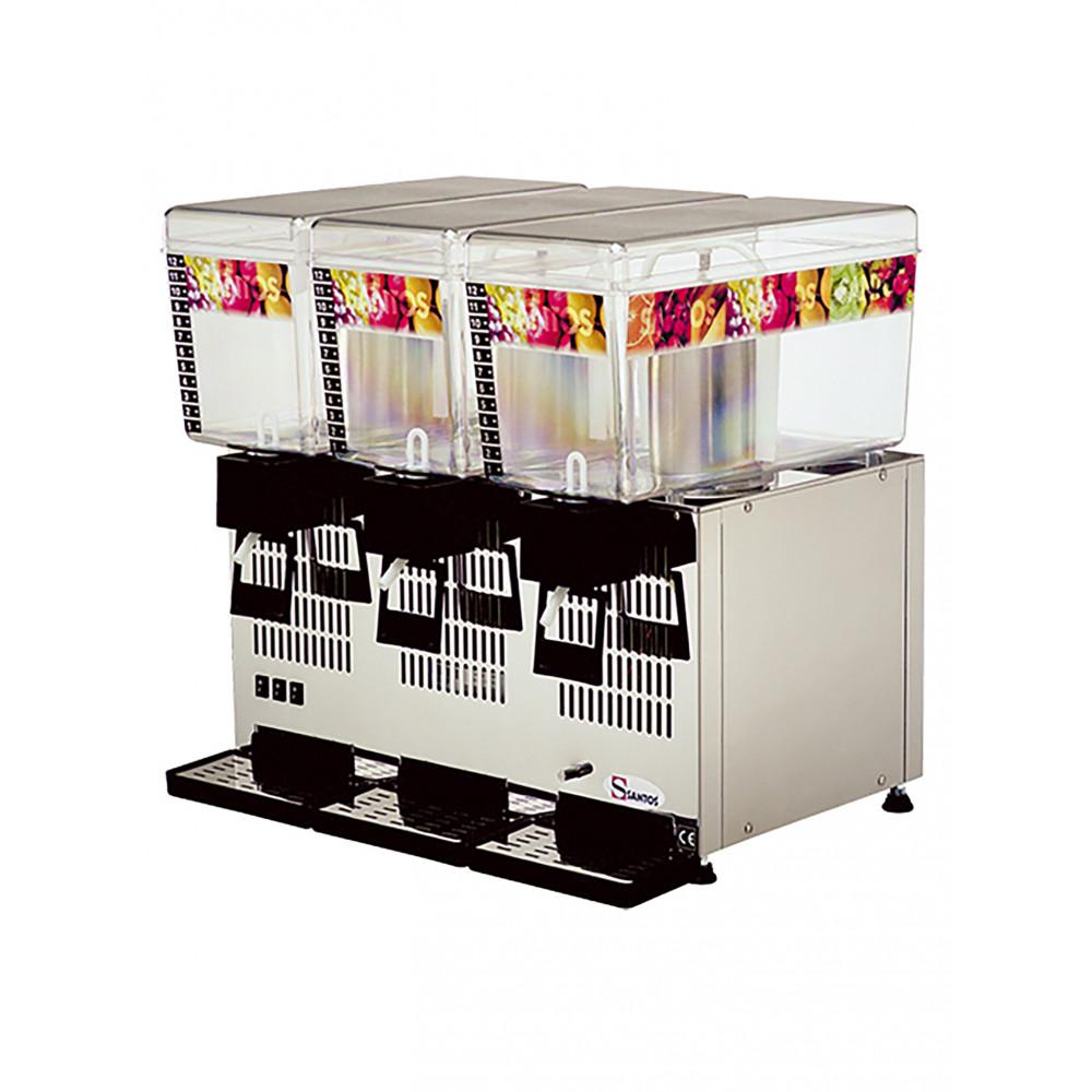 Drankendispenser - H 54.5 x 57 x 43 CM - 30.5 KG - 220 - 240 V - 330 W - Statische - R134A - Polycarbonaat - Grijs - 12 Liter - +4°C / +12°C - Santos - 408073