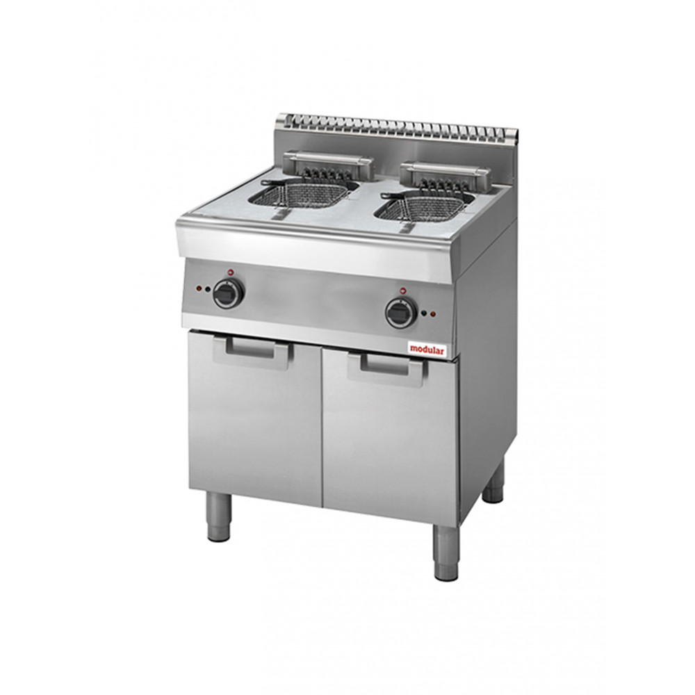 Friteuse - H 85 x 70 x 70 CM - 58 KG - 380 - 415 - Zonder - Stekker V - 15000 W - RVS - 10 Liter - Elektrisch - Modular - 316736