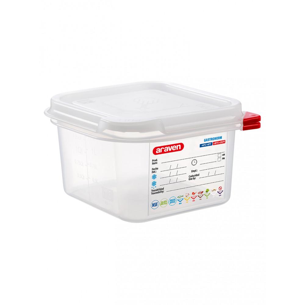Voedseldoos - 1/6 GN - 100 mm diep - Polypropyleen - Promoline