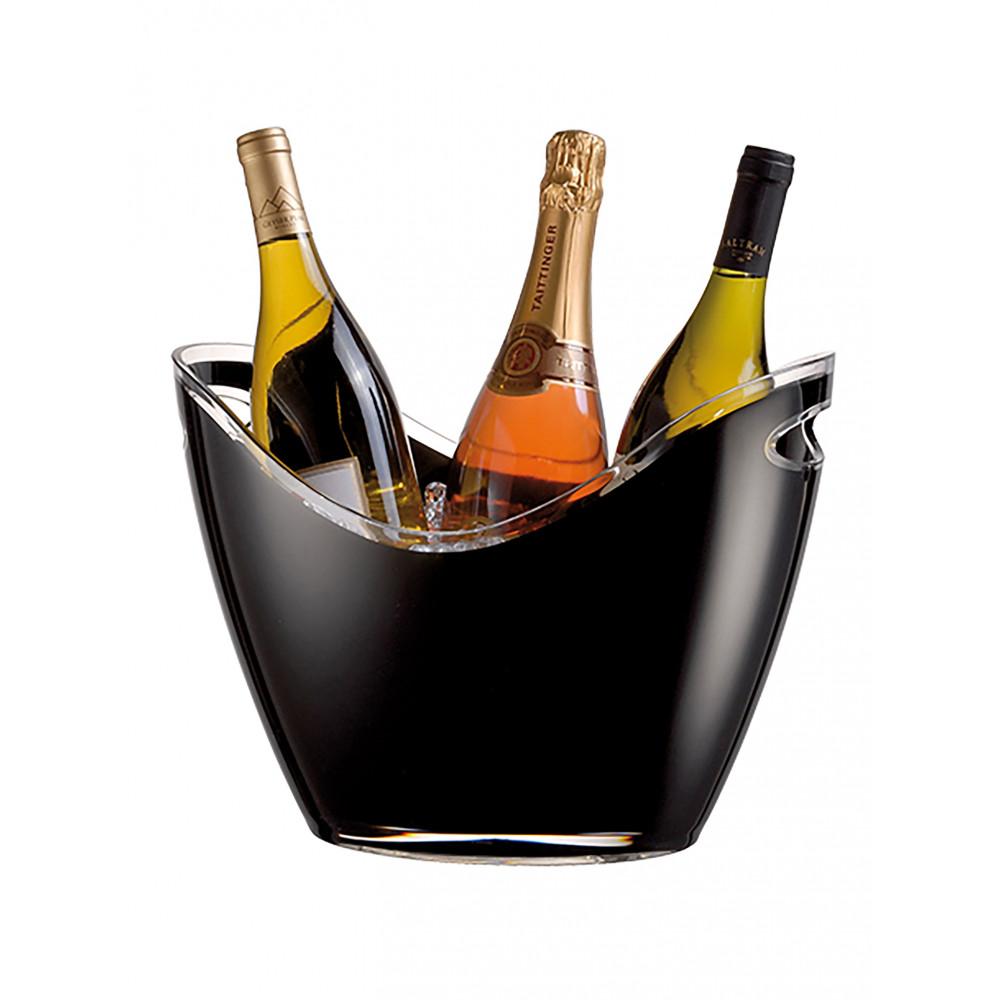 Wijnkoeler - H 26 x 35 x 26 CM - 1.11 KG - Polystyreen (Ps) - Zwart - 6 Liter - Vin Bouquet - 130157