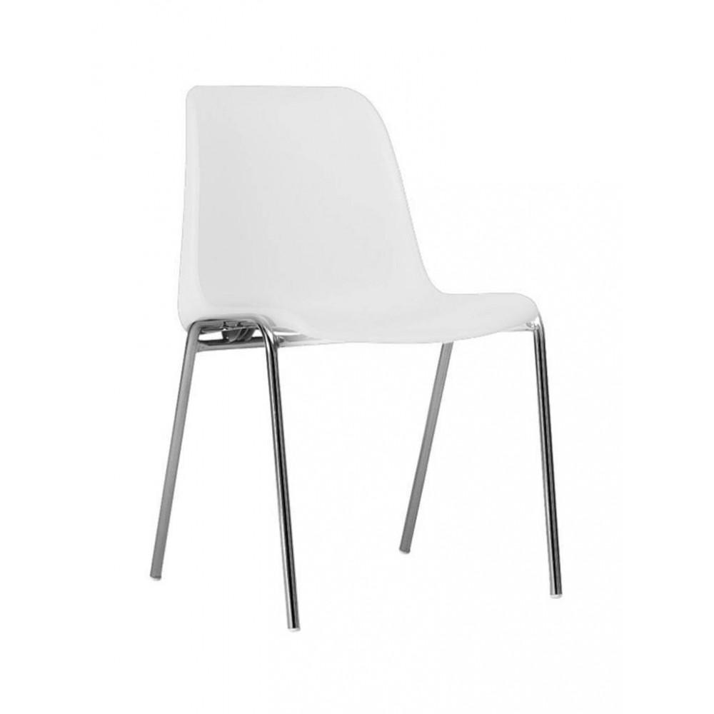 Horeca stoel - Helene - Wit - Stapelbaar - Promoline