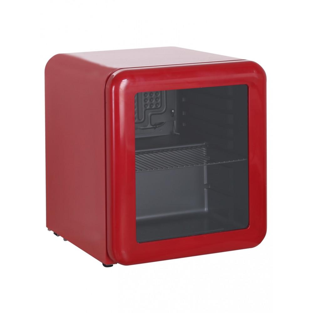 Koelkast tafelmodel - 48 liter - Glasdeur - Rood - KB50-RETRORED - Retro