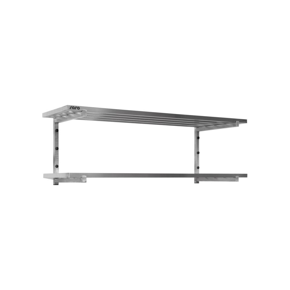 Wandschap - 2 Planken - Spijlenrooster - 100 x 40 cm - Saro - 700-4625
