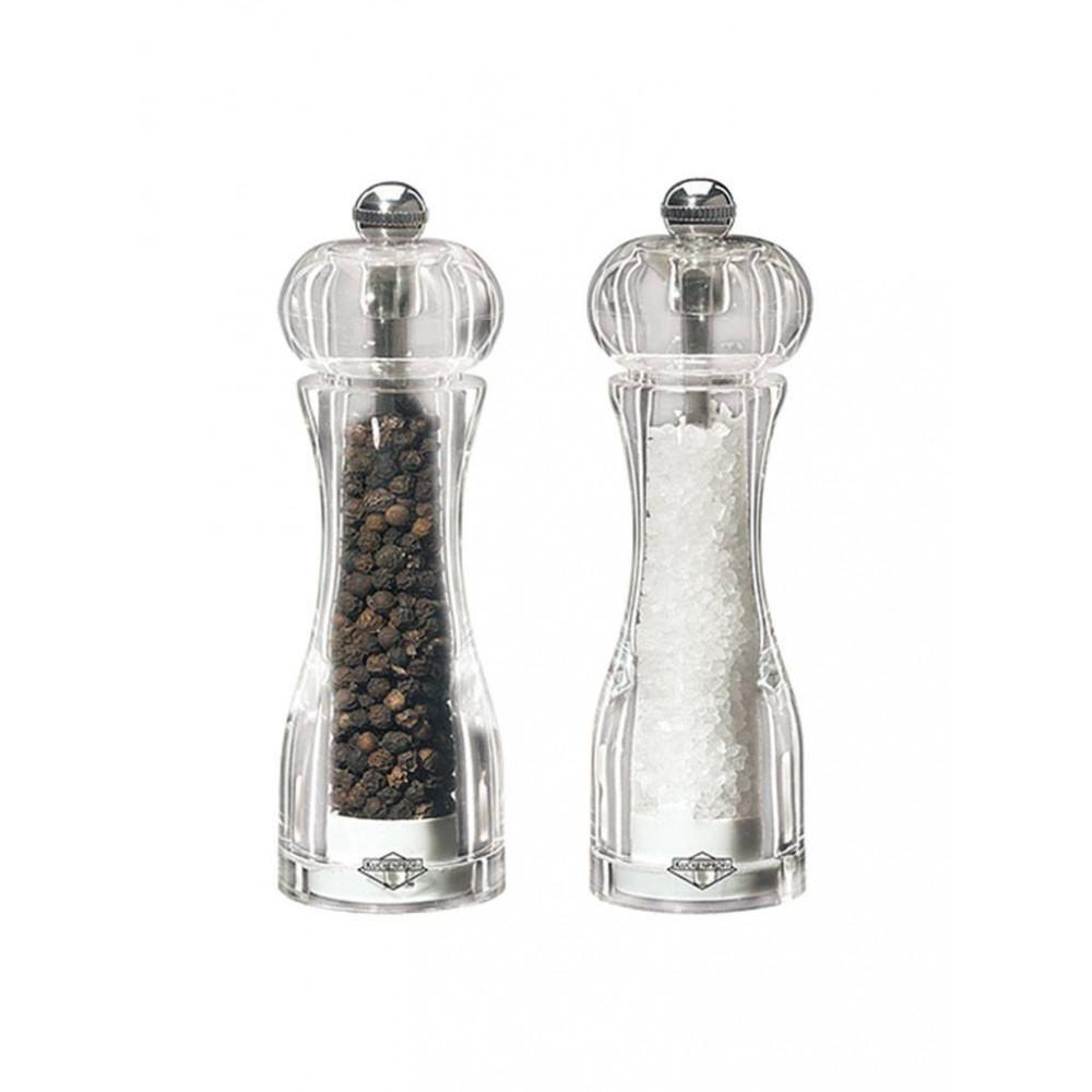 Peper & Zoutmolen - H 13.8 CM - 0.287 KG - Ø4.5 CM - Acryl - Transparant - 081076