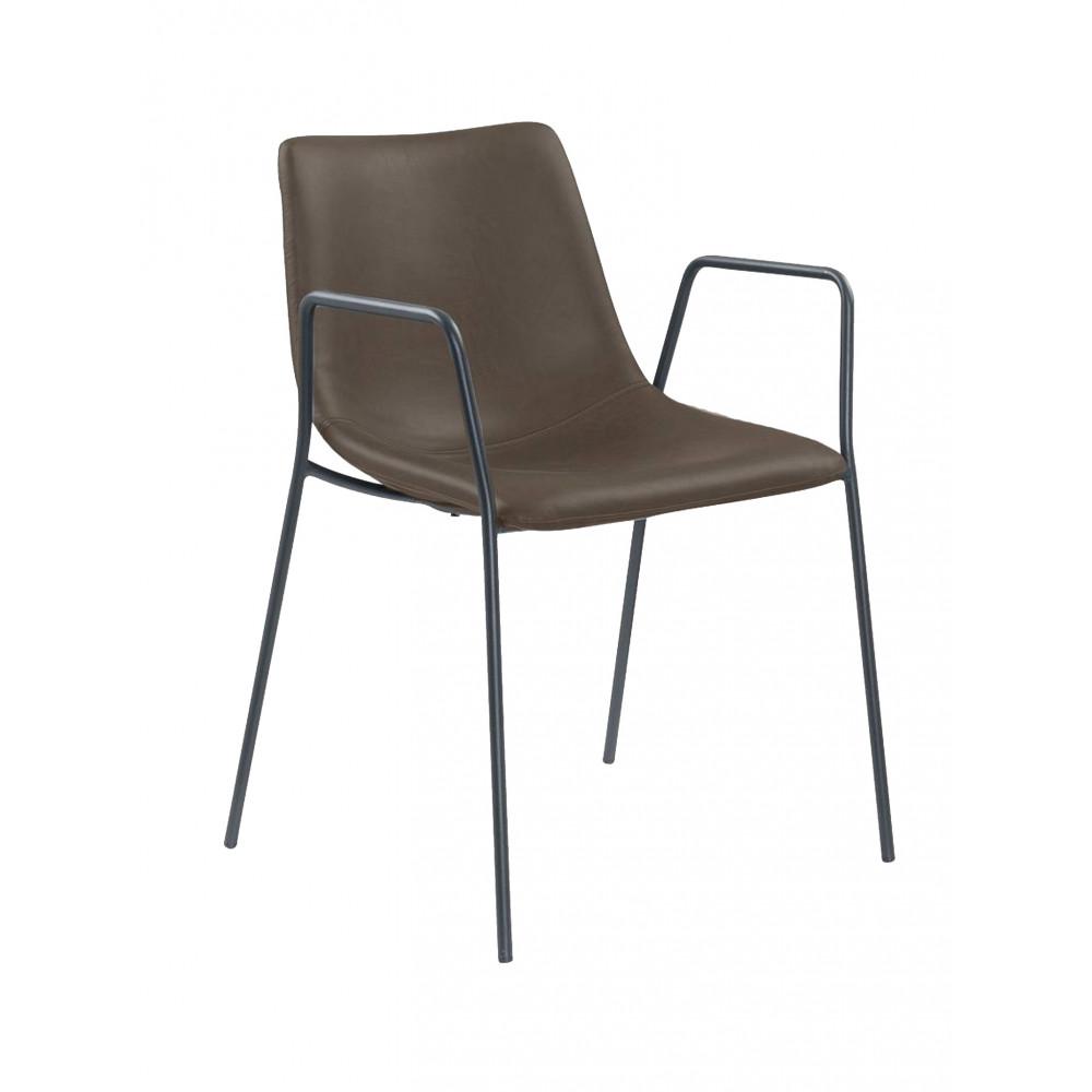 Horeca stoel - Denver - Bruin- Staal