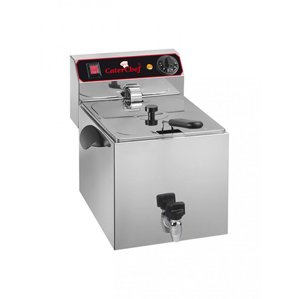 Caterchef - 9 liter - Aftapkraan - 680009 | Horeca friteuse