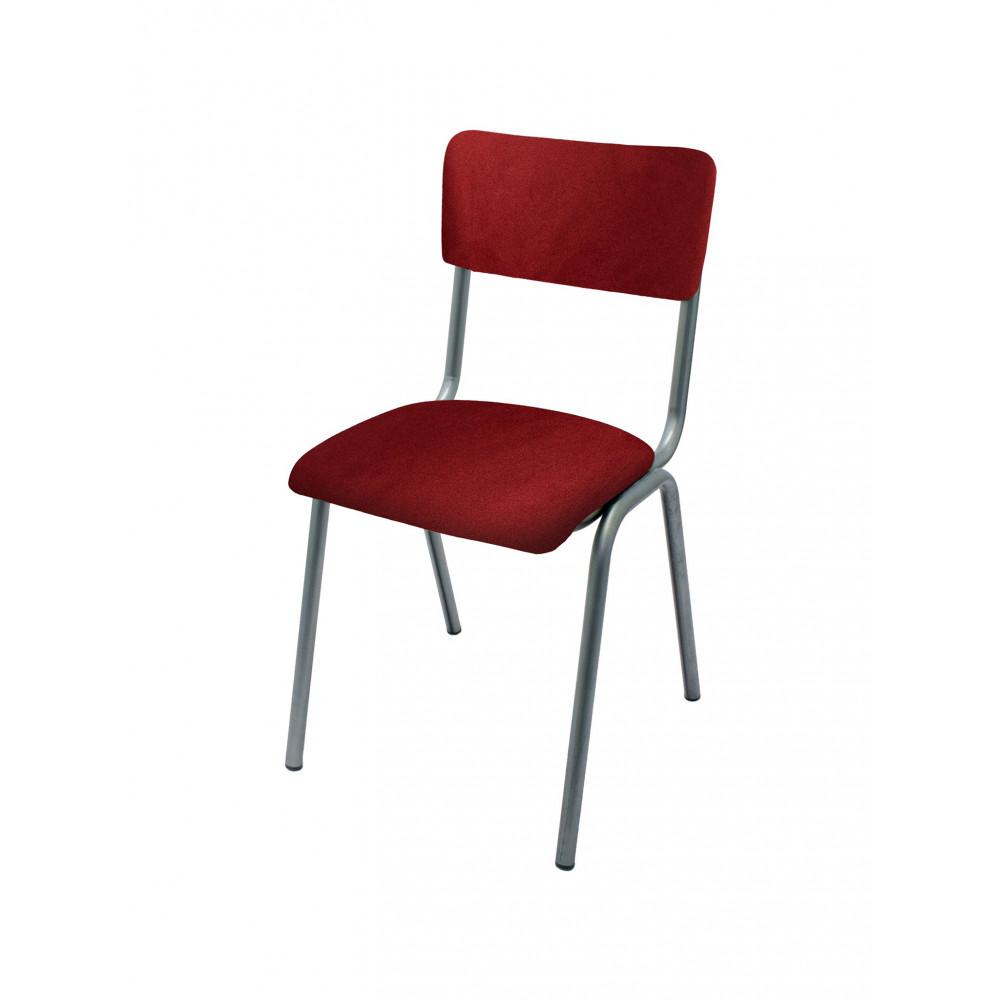 Horeca stoel - Old School - Vintage Metal - Velvet Rood - Promoline