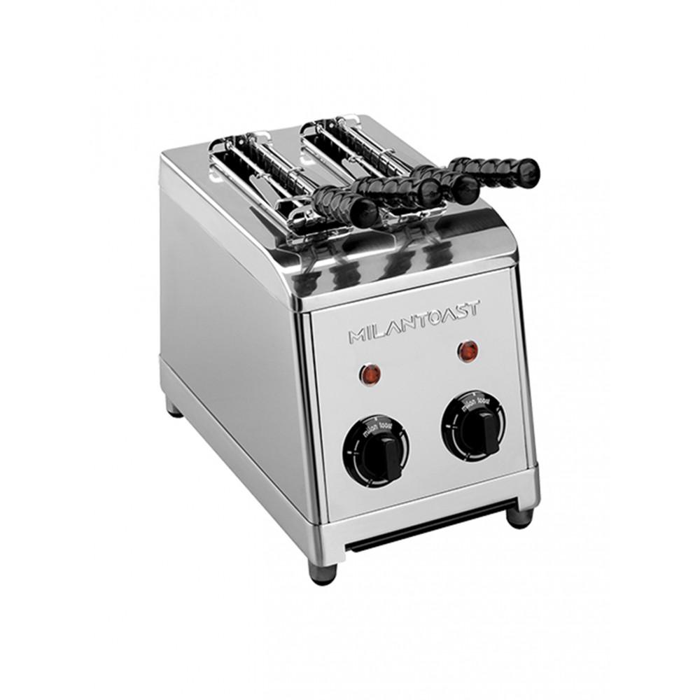 Milan Toast - Tosti Apparaat - 2 sleuven - Inox 2 - 420002