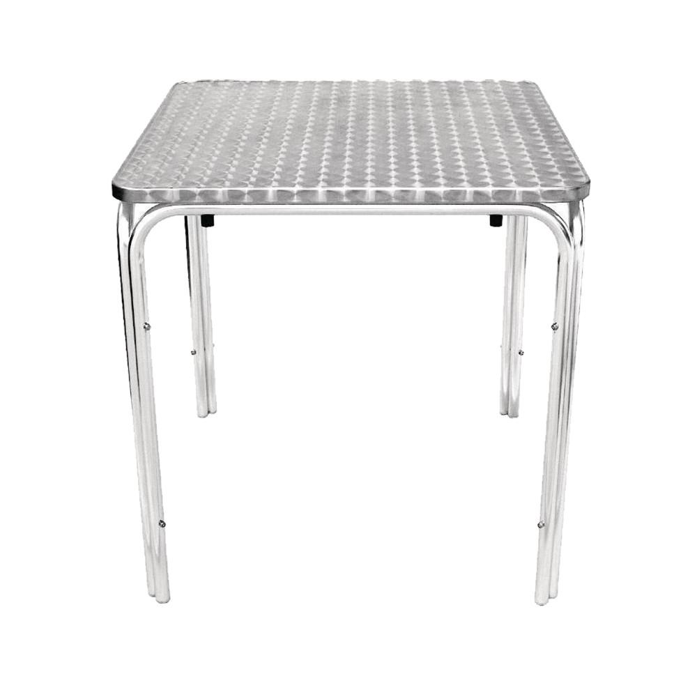 Terrastafel - 70x70 cm - Bistro - Chroom - Aluminium - Promoline - 75021