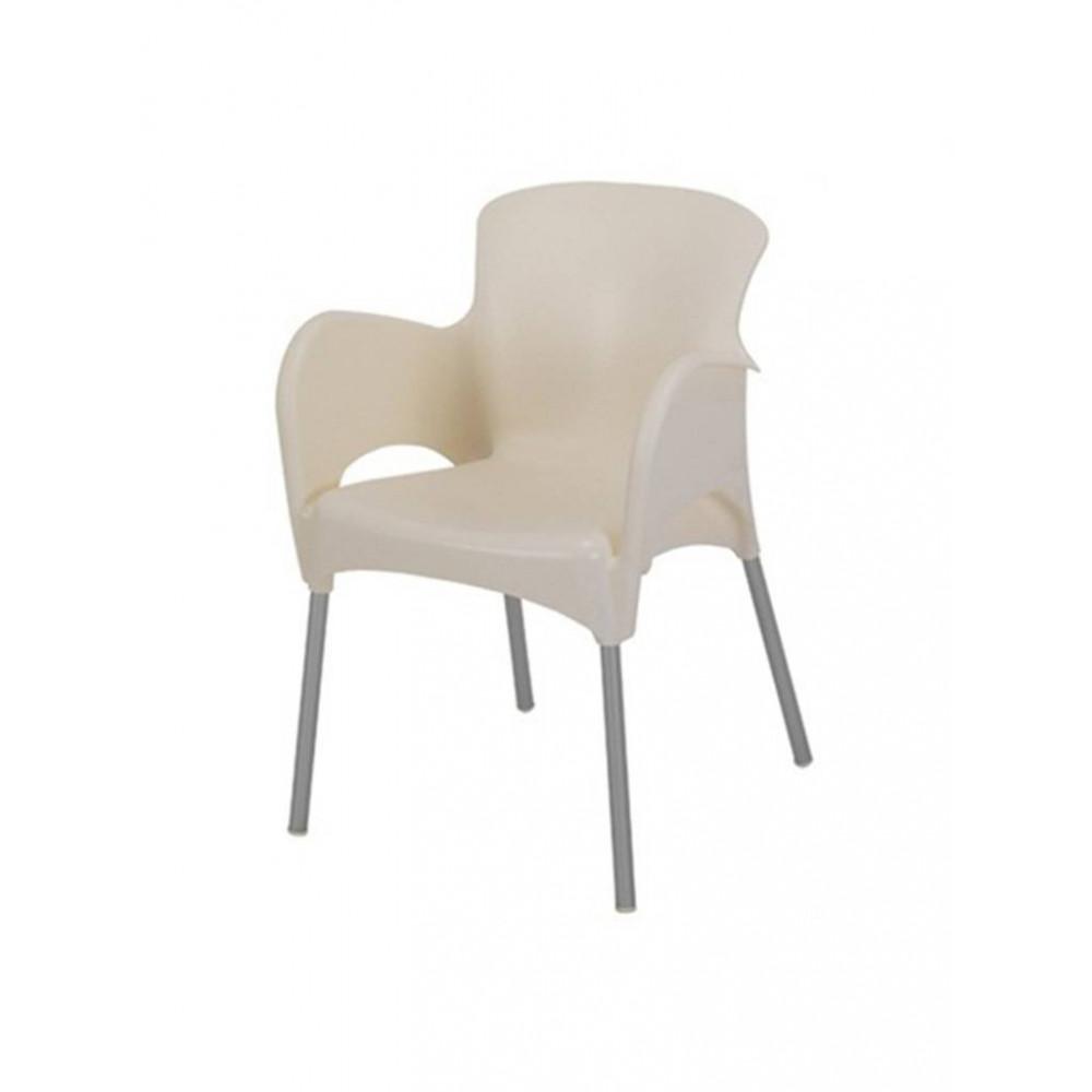 Horeca stoel / Terrasstoel - Armleuning - Mars - Crème