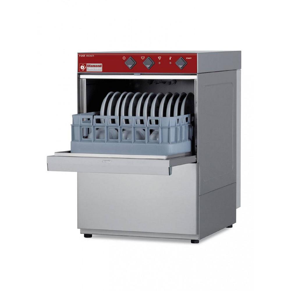 Horeca glazenvaatwasser - 40 x 40 mand - Afvoerpomp - 230V - Fast wash - DC402/6-PS - Diamond