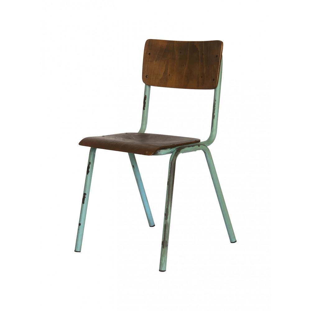 Horeca stoel - Old School - Vintage Groen - Hout - Promoline