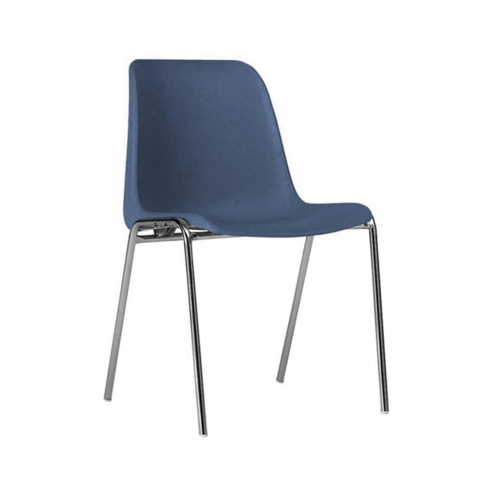 Horeca stoel - Helene - Blauw - Stapelbaar - Promoline