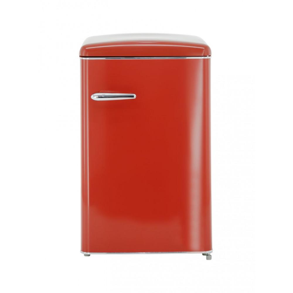 Koelkast - 112 Liter - 1 deurs - Rood - Exquisit - RKS120-V-H-160FR
