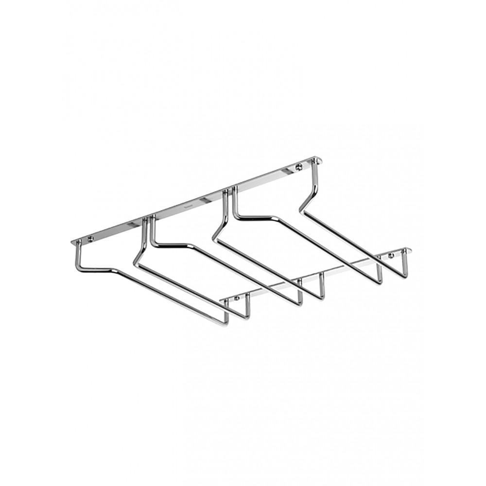 Glazen-Ophangrek - H 5 x 33.8 x 26.3 CM - 0.55 KG - Verchroomd - Vin Bouquet - 220035