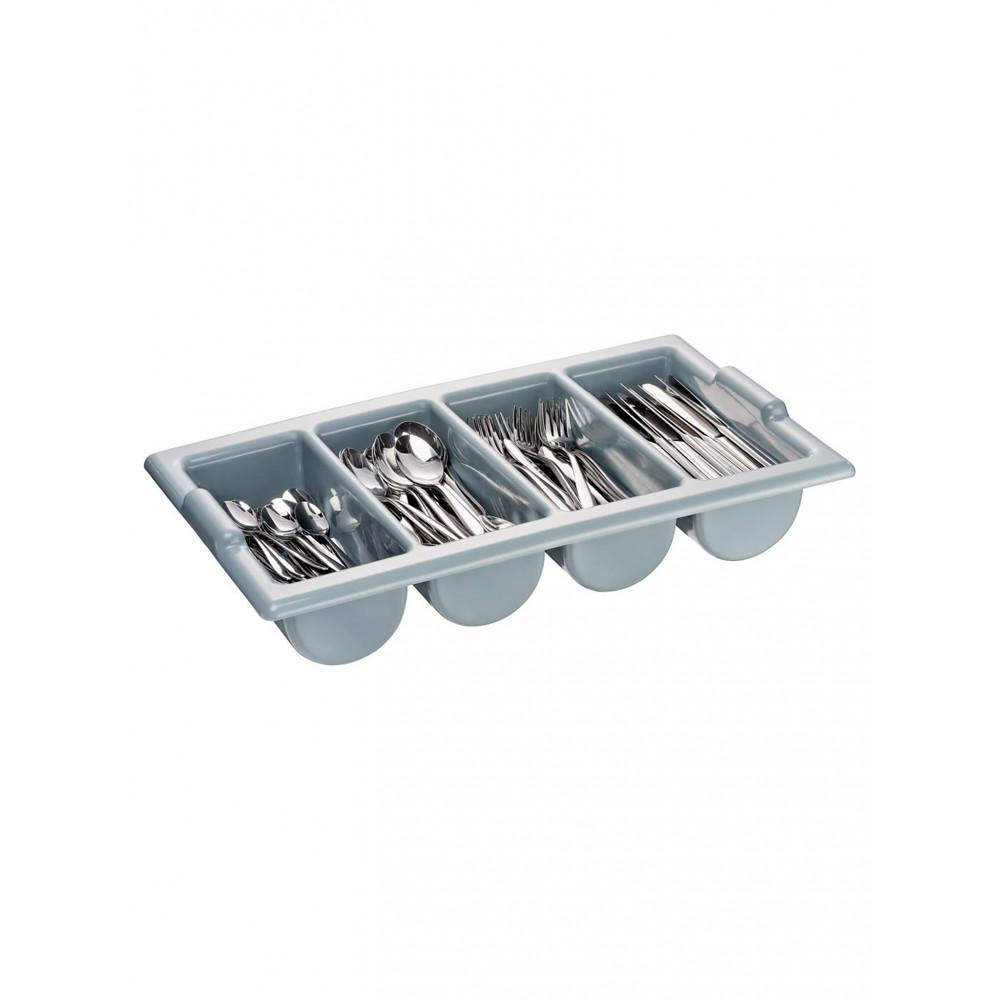 Bestekbak - 4 compartimenten - Grijs - 1/1 GN - Promoline