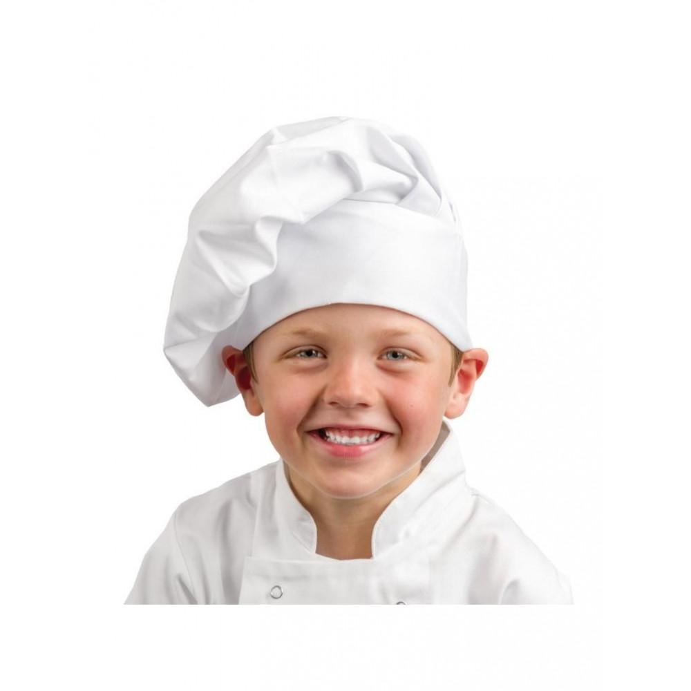 Koksmuts voor kinderen - Wit - Whites Chefs Clothing - A677