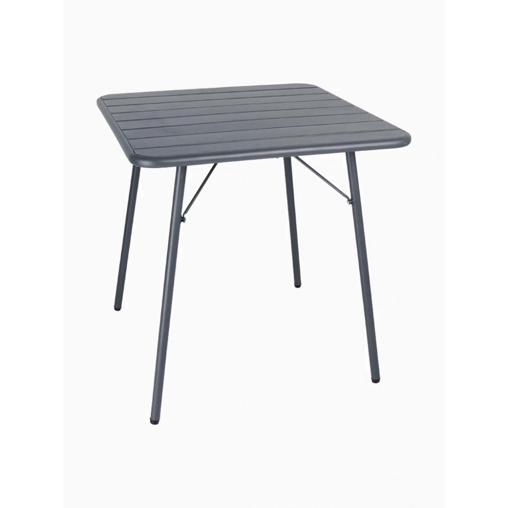 Bolero Gepoedercoat staal - Grijs - 70 x 70 cm - Opklapbaar | Horeca tafel