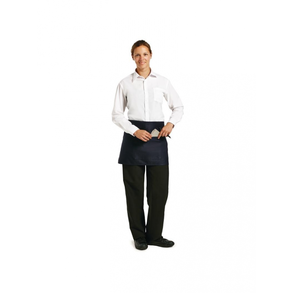 Uniform Works barsloof donkerblauw - 37,3(l) x 75(b)cm - Korte Sloof - A426