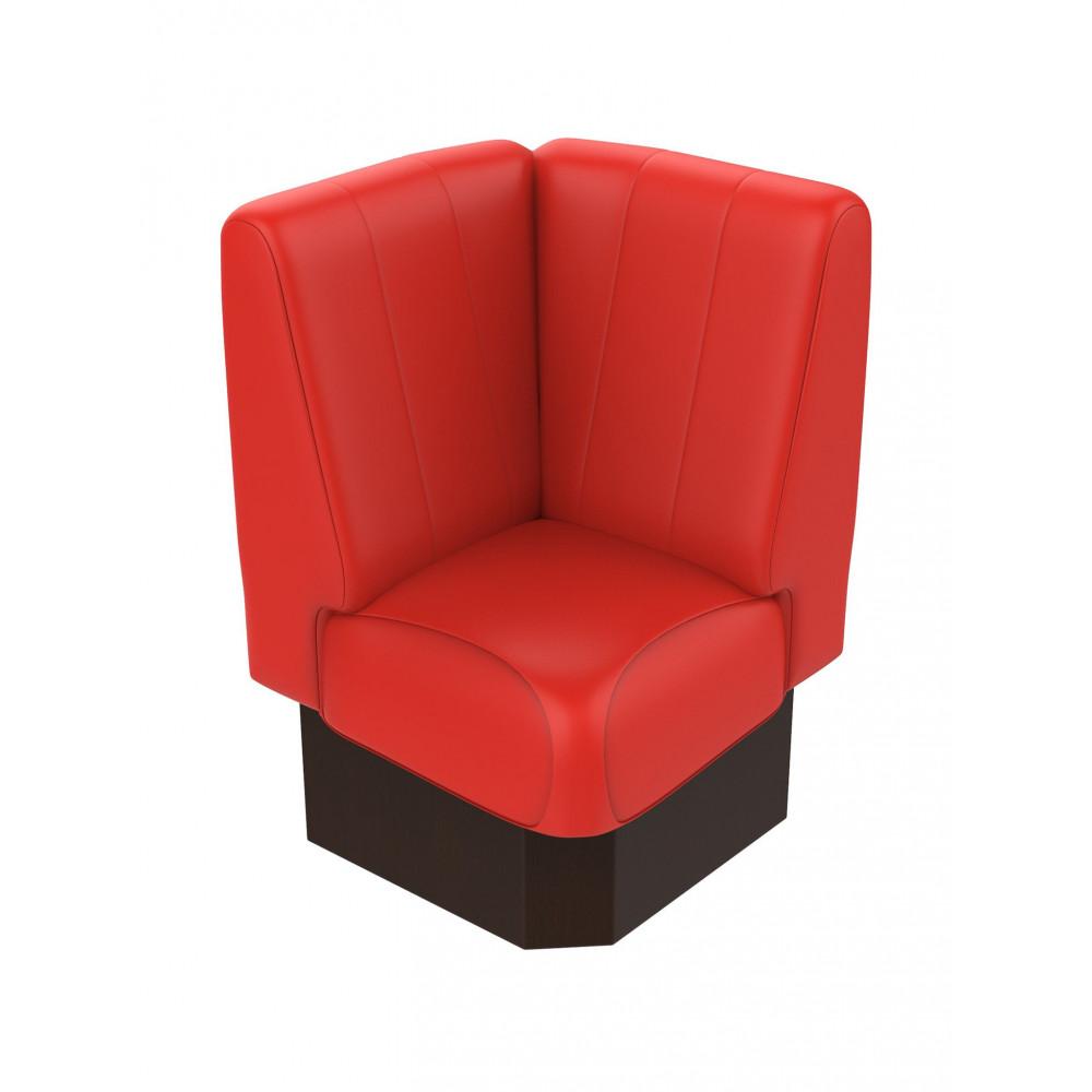 Hoekbank - Bistro - Rood - 60 x 60 cm - Promoline