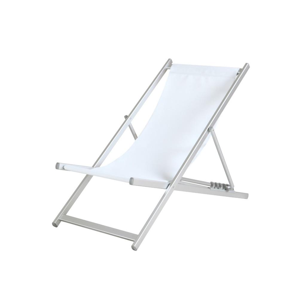 Strandstoel - Sol - Aluminium - Wit - Promoline