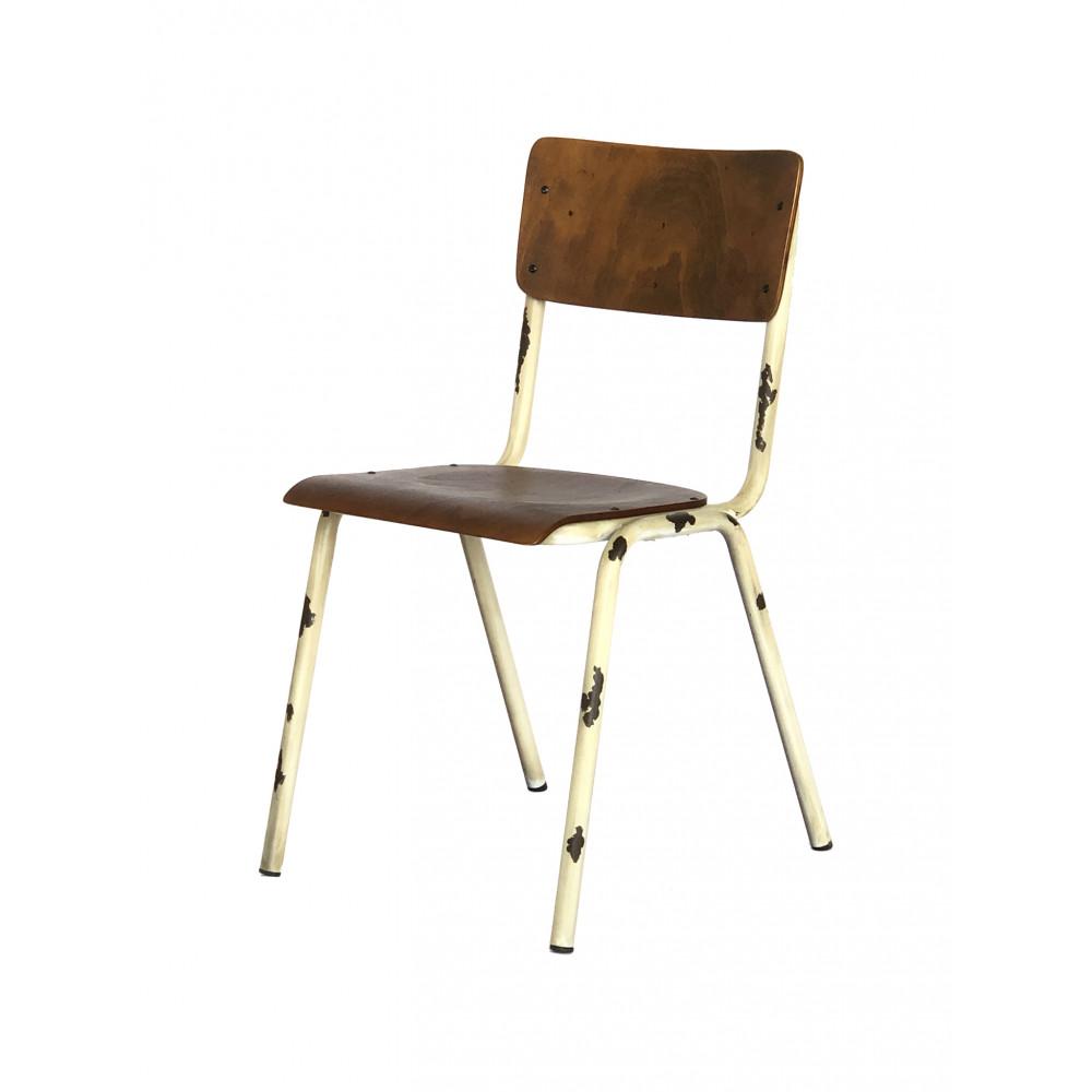 Horeca stoel - Old School - Vintage Crème - Hout - Promoline