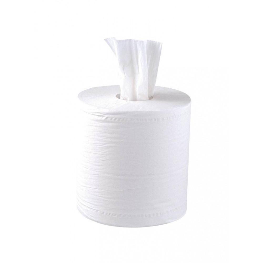 Centrefeed handdoekrollen - 2 laags - wit - 6 stuks | Jantex